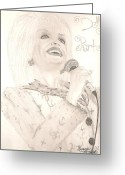 Dolly Parton Greeting Cards - Dolly Parton Greeting Card by Art of the Maverick
