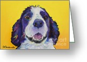 English Springer Spaniel Greeting Cards - Dolly Greeting Card by Pat Saunders-White            