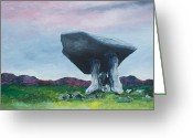 Mound Painting Greeting Cards - Dolmen 2 Greeting Card by Conor Murphy