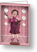 Deathly Hallows Greeting Cards - Dolores Jane Umbridge Greeting Card by Christopher Ables