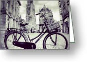 Bicycle Greeting Cards - Dom Tower Greeting Card by Jonathan P