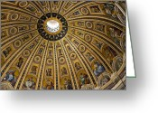 Vatican City Greeting Cards - Dome of St Peters Basilica Vatican City Italy Greeting Card by Jon Berghoff