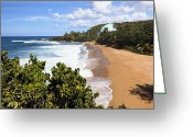 Crashing Waves Greeting Cards - Domes Beach Rincon Puerto Rico Greeting Card by George Oze