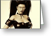 Latex Greeting Cards - Dominate Me Greeting Card by Alexander Butler