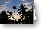 St. Lucia Photographs Greeting Cards - Dominican Sunrise Greeting Card by Bill Mortley