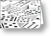 Tiles Greeting Cards - Dominoes II Greeting Card by Tom Mc Nemar