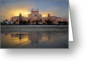 Hotel Greeting Cards - Don Cesar reflection Greeting Card by David Lee Thompson