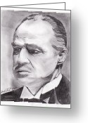Brando Greeting Cards - Don Corleone Greeting Card by Jason Kasper