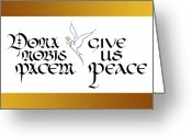 Tamara Stoneburner Greeting Cards - Dona Nobis Pacem-Give Us Peace Greeting Card by Tamara Stoneburner