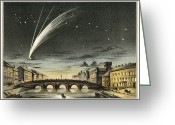Long Period Comet Greeting Cards - Donatis Comet Of 1858, Artwork Greeting Card by Detlev Van Ravenswaay