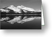 Lanscape Mixed Media Greeting Cards - Donner Black and White Greeting Card by Mickey Hatt