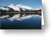 Iphonesia Greeting Cards - Donner Lake Morning Greeting Card by Mickey Hatt