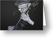 Big Band Greeting Cards - Donny Gilliland Greeting Card by Steve Hunter