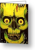 Metallica Painting Greeting Cards - Dont Be Afraid Greeting Card by Elaine Alonzo