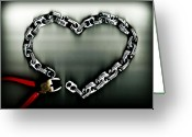 Altered Photograph Greeting Cards - Dont Chain My Heart Greeting Card by Dolly Mohr