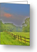 Old Wooden Fence Greeting Cards - Dont Fence Me In Greeting Card by Bill Cannon