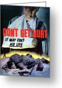 Warishellstore Greeting Cards - Dont Get Hurt It May Cost His Life Greeting Card by War Is Hell Store