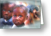 Haitian Greeting Cards - Dont Let Us Fade Away Greeting Card by Bob Salo