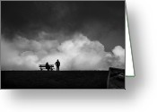 Dark Cloud Greeting Cards - Dont Look Behind Greeting Card by Christiane Michaud