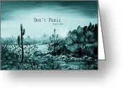 Digitally Enhanced Greeting Cards - Dont Panic Greeting Card by Anastasiya Malakhova