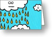 Storm Drawings Greeting Cards - Dont Pee On Me Greeting Card by Jera Sky