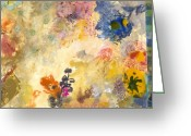 Abstract Collage Greeting Cards - Dont send me flowers IV Greeting Card by Gloria  Von Sperling
