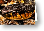 Snake Scales Greeting Cards - Dont Tread On Me Greeting Card by Joetta West