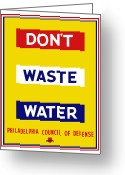Save Greeting Cards - Dont Waste Water Greeting Card by War Is Hell Store