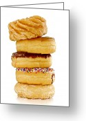 Calories Greeting Cards - Donuts Greeting Card by Elena Elisseeva