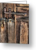 Go Greeting Cards - Door - The Latch Greeting Card by Mike Savad