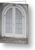 Window Panes Greeting Cards - Door 20 Greeting Card by Cheryl Young