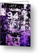 Purple Greeting Cards - Door 94 Perception Greeting Card by Bob Orsillo