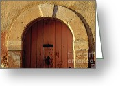 South Of France Greeting Cards - Door Greeting Card by Bernard Jaubert