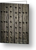 Rustic Greeting Cards - Door detail Greeting Card by Elena Elisseeva