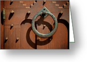 Hinge Greeting Cards - Door Detail Greeting Card by Odd Jeppesen