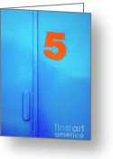 Stainless Steel Greeting Cards - Door Five Greeting Card by Carlos Caetano