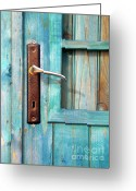 Shed Photo Greeting Cards - Door Handle Greeting Card by Carlos Caetano