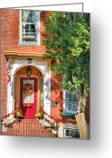 Southern Indiana Greeting Cards - Door In Historic District I Greeting Card by Steven Ainsworth