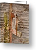 Rotted Greeting Cards - Door of the Passed Greeting Card by Douglas Barnett
