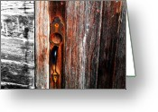 Peeling Paint Greeting Cards - Door to the Past Greeting Card by Julie Hamilton