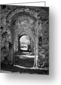 Ireland Greeting Cards - Doors at Ballybeg Priory in Buttevant Ireland Greeting Card by Teresa Mucha