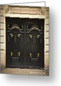 Old Wall Greeting Cards - Doors Greeting Card by Elena Elisseeva