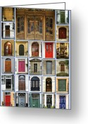 Will Greeting Cards - Doors of London Greeting Card by Heidi Hermes