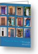 Adobe Architecture Greeting Cards - Doors of New Mexico Greeting Card by Heidi Hermes