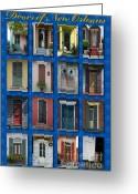 Elements Greeting Cards - Doors of New Orleans Greeting Card by Heidi Hermes