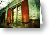Pdx Art Greeting Cards - Doors of Past Greeting Card by Cathie Tyler