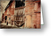 Old Wooden Fence Greeting Cards - Doors Open Greeting Card by Julie Hamilton