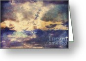 Abstract Sky Greeting Cards - Doors To Another World Abstract Greeting Card by Zeana Romanovna