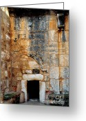 Christ Greeting Cards - Doorway Church of the Nativity Greeting Card by Thomas R Fletcher