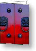 Forbidden City Greeting Cards - Doorway to China Greeting Card by Anthony Silver